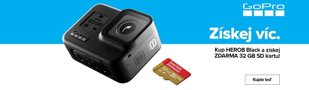GoPro + paměťová karta