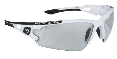 Okulary FORCE CALIBER, białe, szkielety fotochromowe