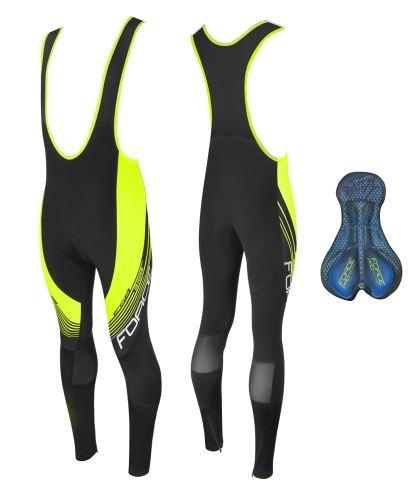 Spodnie FORTE F58 z kostką i wkładką, czarno-fluo