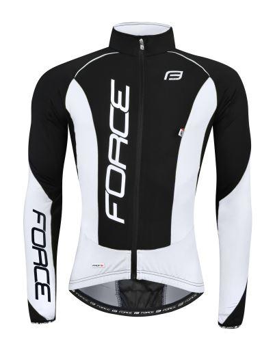kurtka / koszulka FORCE z długim rękawem X68 PRO, czarno-biała