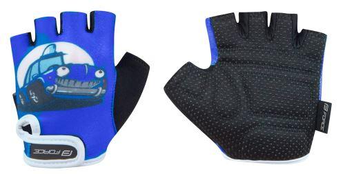 rękawiczki FORCE KID dzieci, niebieski samochód