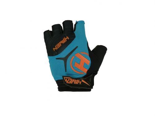 Rękawice DEMO SHORT z krótkimi rękawami w kolorze niebieskim / pomarańczowym XXL