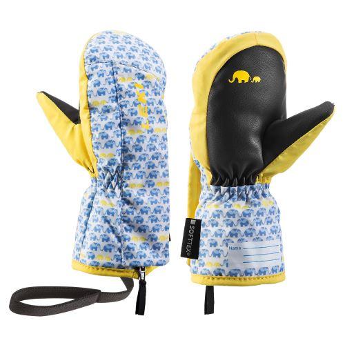 Rękawiczki dziecięce LEKI Little Elephant Zap Mitt niebiesko-żółte