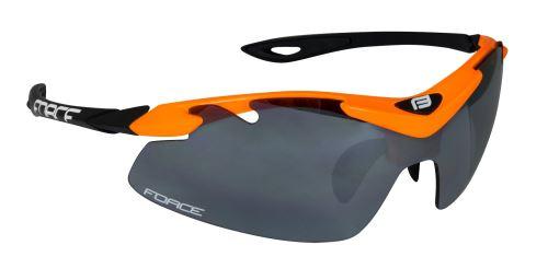 Okulary FORCE DUKE pomarańczowo-czarne, czarne szkło laserowe