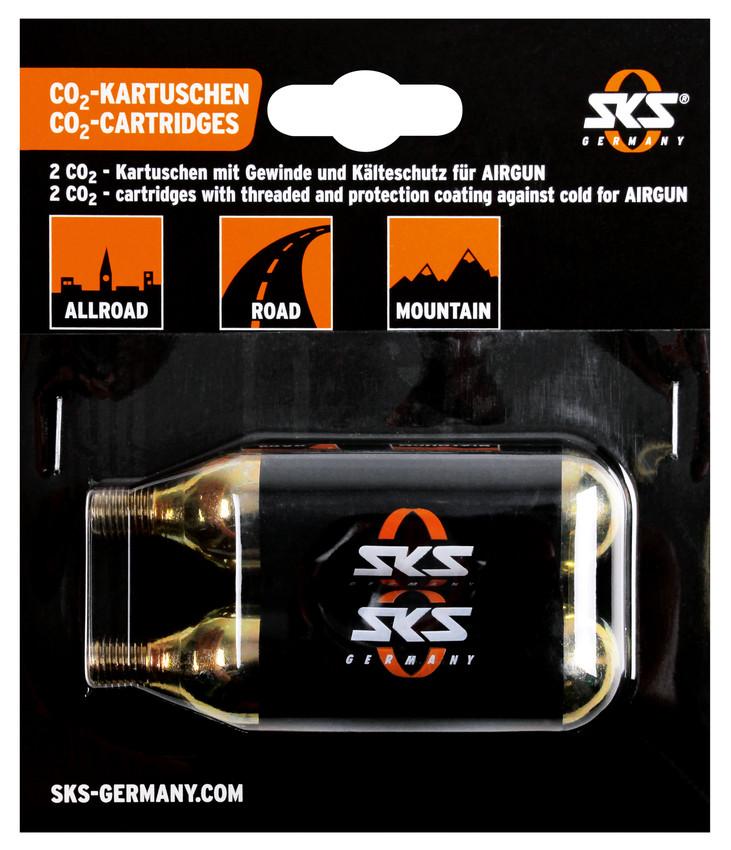 SKS CO2 Náhradní bombičky, set 2 ks, 16g, se závitem, pro Airbuster/Airgun 2 ks, 16g , 2017
