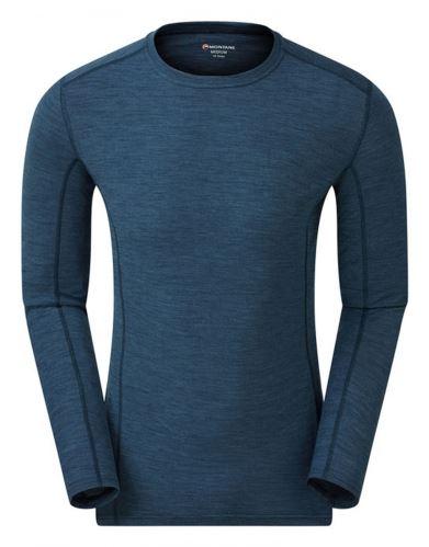 pánské triko Montane Primino 140g 7 Summits, Dlouhý rukáv, Narwhal Blue