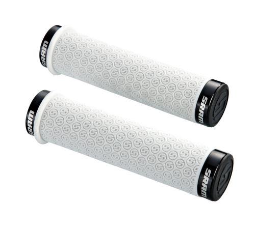 SRAM DH Locking gripy, silikonové s dvojitou černou obj. a zátkami