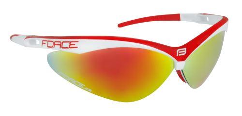 Okulary FORCE AIR biało-czerwone, czerwone szkło laserowe