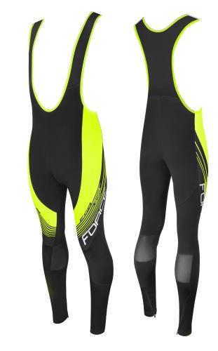 Spodnie FORTE F58 bez wkładek, czarno-fluo