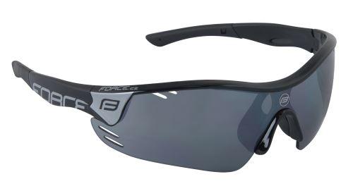 Okulary FORCE RACE PRO, laser ze szkłem czarnym