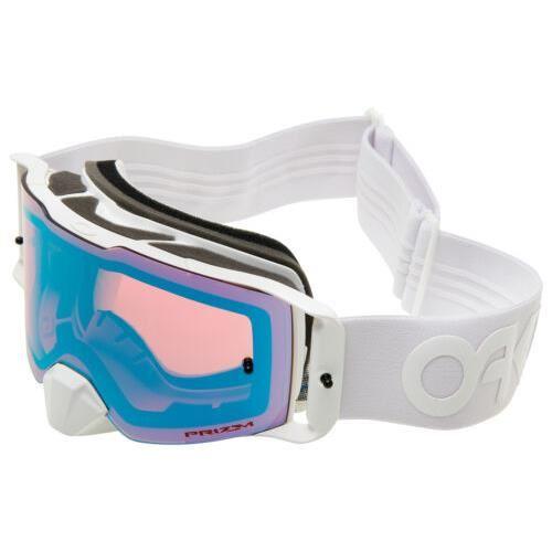 Sjezdové brýle Oakley Front Line MX Factory Pilot Whiteout / PRIZM MX Sapphire Iridium