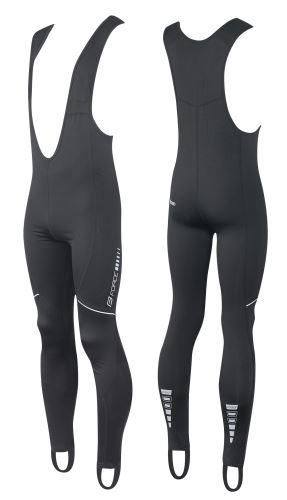 kalhoty FORCE Z68 se šráky bez vložky, černé