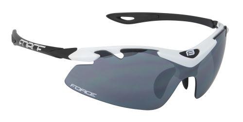 brýle FORCE DUKE bílo-černé, černá laser skla