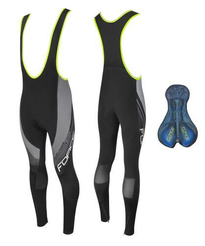 Spodnie FORTE F58 ze spodniami i podszewką, czarno-szare