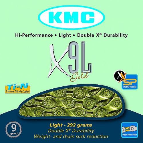 KMC X-9-L ZŁOTY ŁAŃCUCH BOX