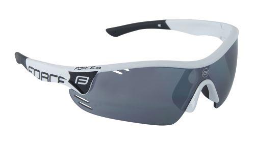 Okulary FORCE RACE PRO do białego, czarnego szkła laserowego
