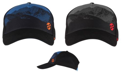 GHOST Kšiltovka / Cap - DOUBLE G night black / reef blue / monarch orange