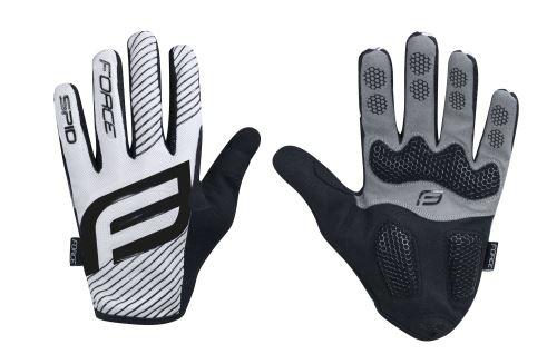 Rękawiczki FORCE MTB SPID bez zamknięcia, białe