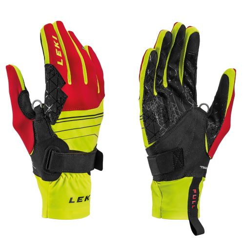 Rukavice LEKI Tour Mezza V Glove yellow-red-black
