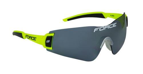 Okulary FORCE FLASH, fluo-czarne, czarne szkło