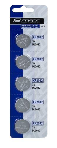 Baterie FORCE - mincová CR2032 / 3V 1ks