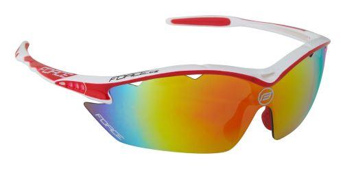 Okulary FORCE RON biało-czerwone, szklane multilaser