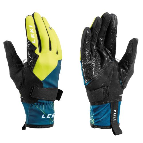 Rukavice LEKI Tour Guide V Glove blue-yellow