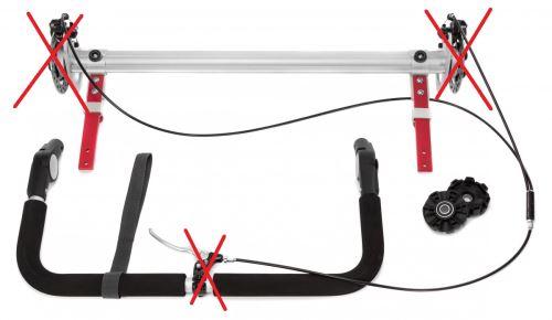 QERIDOO Příslušenství - Náhradní náprava pro vozíky Kidgoo 1 (bez kotoučových brzd)