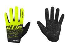 rękawiczki FORCE KID MTB SWIPE lato, czarno-fluo