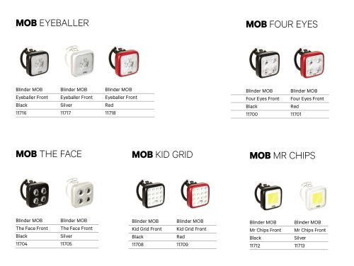Přední světlo KNOG Blinder MOB - různé varianty
