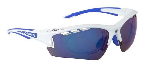 Okulary FORCE RIDE PRO do białego diop.klip, niebieskie szkło laserowe