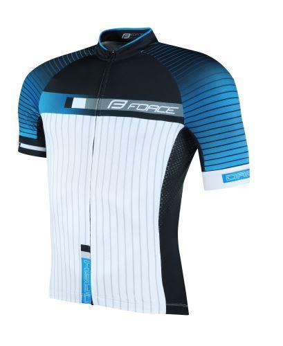 Koszulka FORCE DASH krótki rękaw, niebiesko-czarno-biała