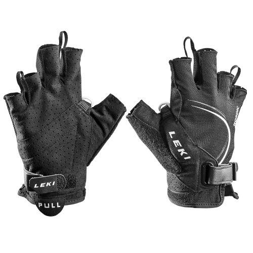 Rękawiczki LEKI Glove Nordic Lite Shark Short czarno-białe 6.0