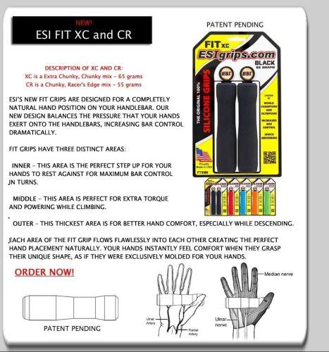 Uchwyty ESI-gripy FIT XC Ergo Różne kolory
