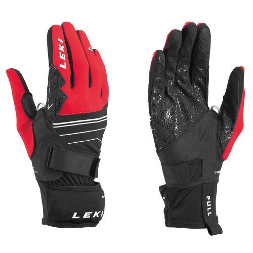 Rukavice LEKI Tour Mezza V Plus Glove black-red-white