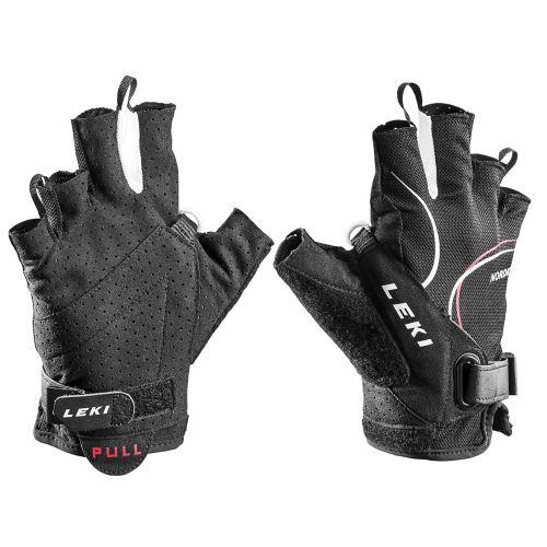 Rękawiczki LEKI Glove Nordic Lite Shark Short czarno-biało-czerwone