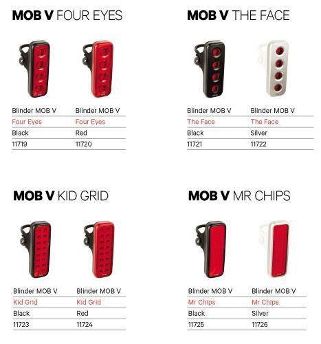 Zadní světlo Knog Blinder MOB V - Různé varianty
