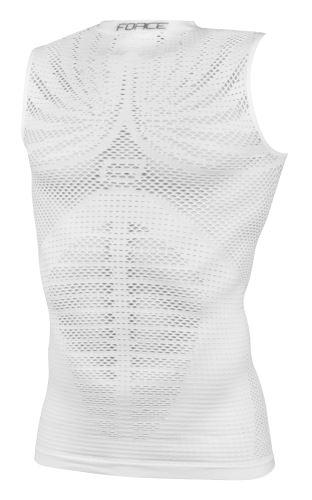 Koszulka / bielizna funkcjonalna FORCE TROPIC bez rękawów, biała SM