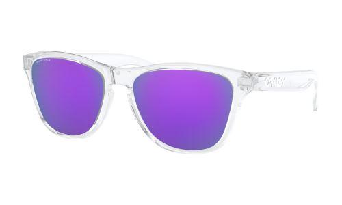 Oakley Frogskins XS Polished Clear Glasses / PRIZM Violet
