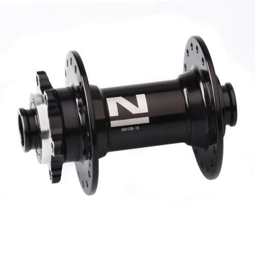 Náboj Novatec D041SB-15, přední, černý (Nové-logo)