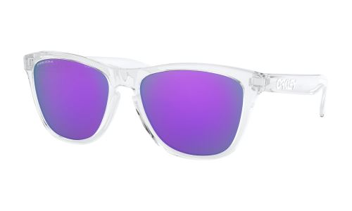 Oakley Frogskins Polished Clear Glasses / PRIZM Violet