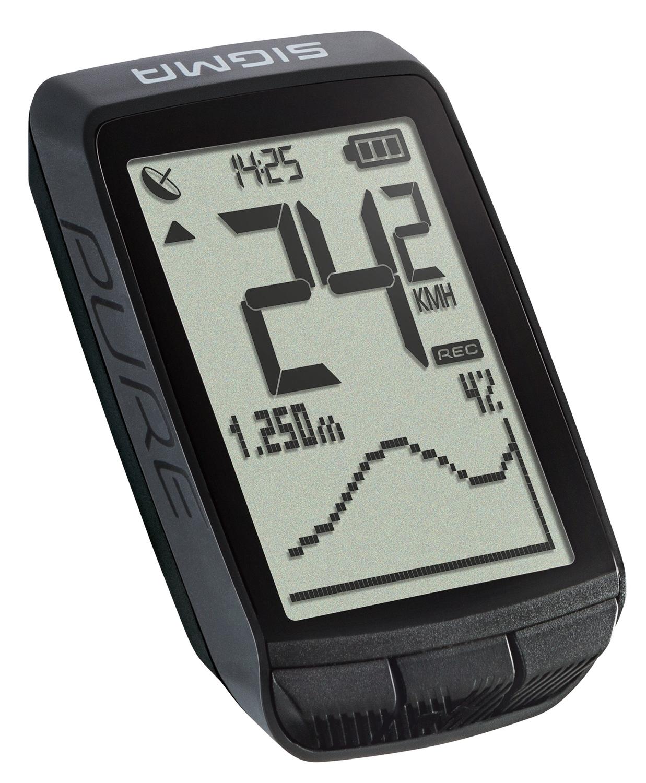 počítač SIGMA PURE GPS, černý