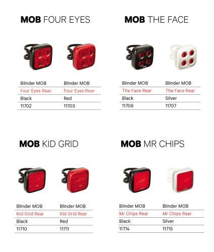 ZADNÍ Světlo KNOG Blinder MOB - různé varianty