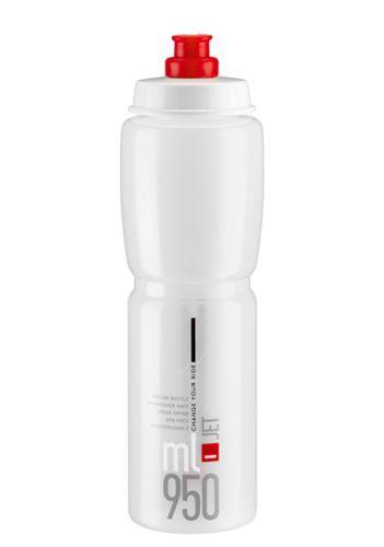 ELITE láhev JET  čirá/červené logo, 950 ml