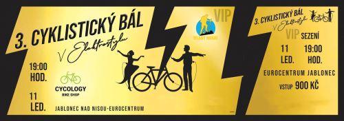 Lístek na cyklistický bál - 11.1.2020 -