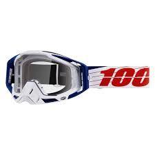 Sjezdové brýle 100% RaceCraft Bibal White - Čirá čočka
