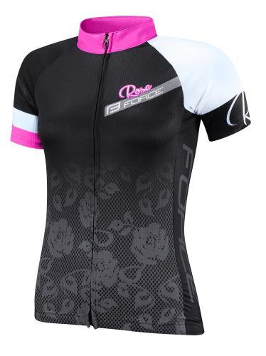 koszulka FORCE ROSE damska kr. rękaw, czarny i różowy