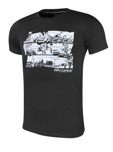 koszula FORCE COOL COMICS krótki rękaw, czarny