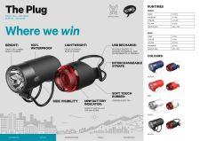 KNOG PLUG - přední světlo - Červené / Red 2020