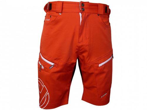 Męskie spodenki rowerowe HAVEN Navaho Slimfit czerwony / biały rozmiar L